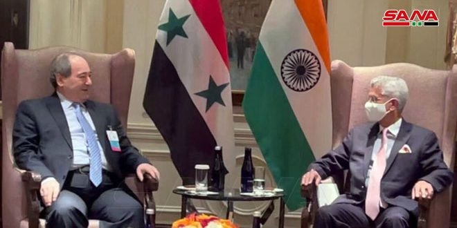 Mikdad meets Jaishankar .. India supports Syria in war against terrorism