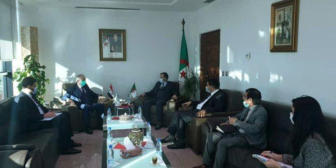Suriye-Cezayir Ticaret İşbirliğini Geliştirme Görüşmeleri